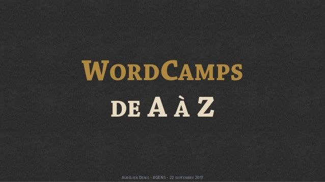 WORDCAMPS 