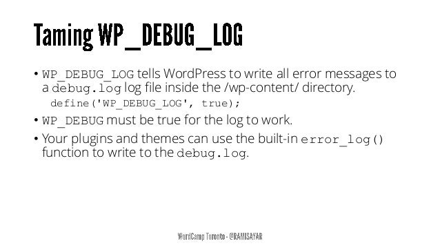 """""""This plugin helps troubleshoot issues with the infamous WordPress WSOD (White Screen of Death)."""" https://github.com/strac..."""