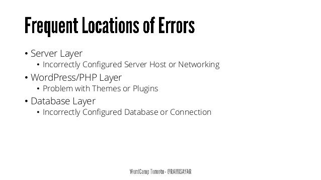 • All PHP errors, notices and warnings are shown. • Deprecated functions or arguments within WordPress in use by your site...