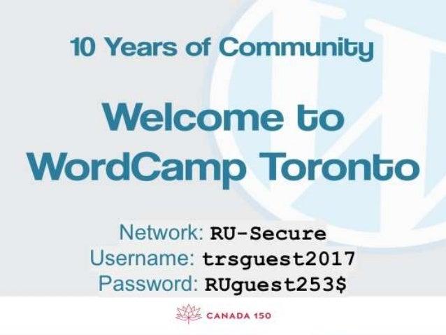 Word camp toronto presentation centofanti