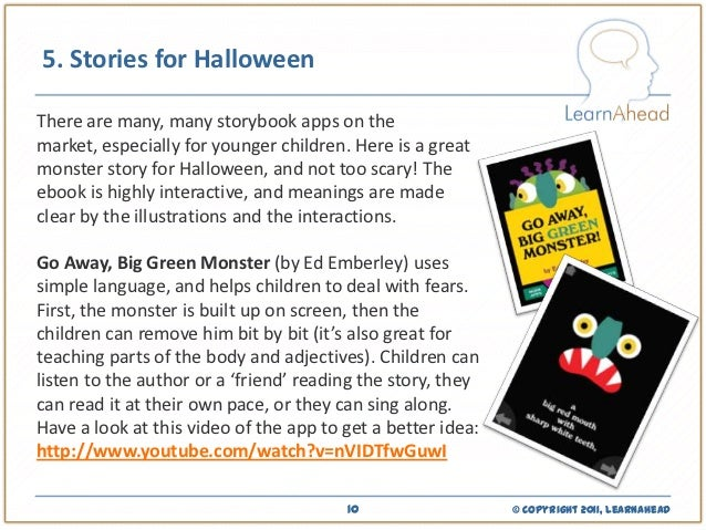 ideas for teaching about halloween using apps and mobile devices