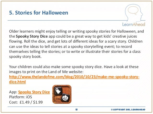 ideas for teaching about halloween using apps and mobile devices  learnahead 12 5 stories