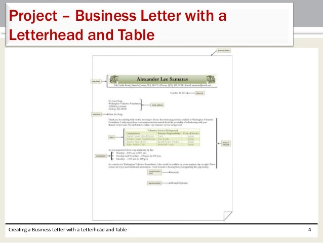 creating a letterhead in word