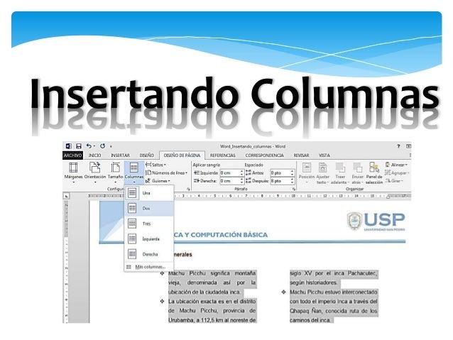 Microsoft Word: Columnas tablas_objetos Slide 3