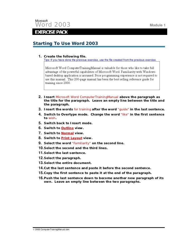 Ms word exercises for practice ukrandiffusion word exercises 1 ibookread ePUb