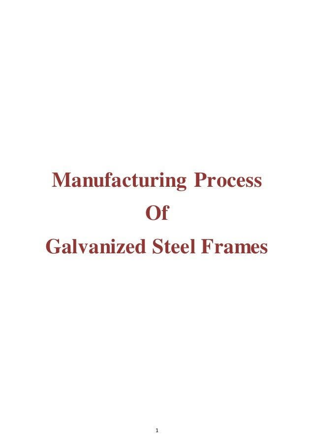 1 Manufacturing Process Of Galvanized Steel Frames
