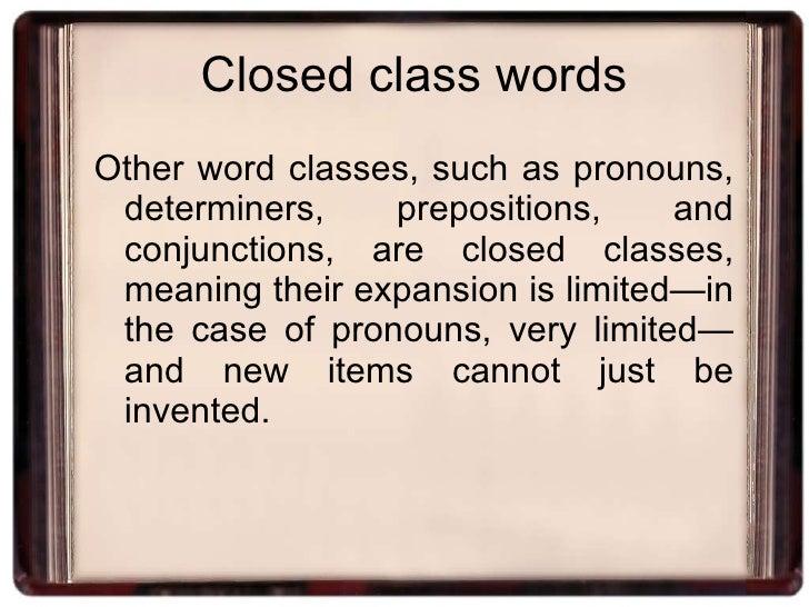 Word Grammar on Conjunctions Glue Words