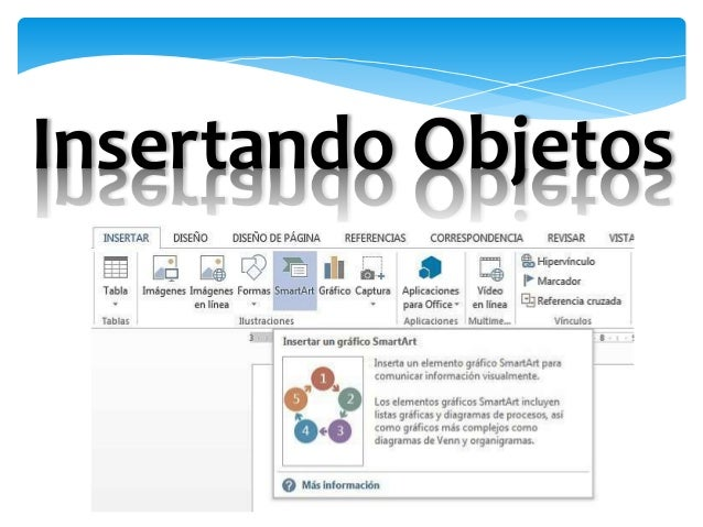 Microsoft Word: Insertando objetos Slide 3