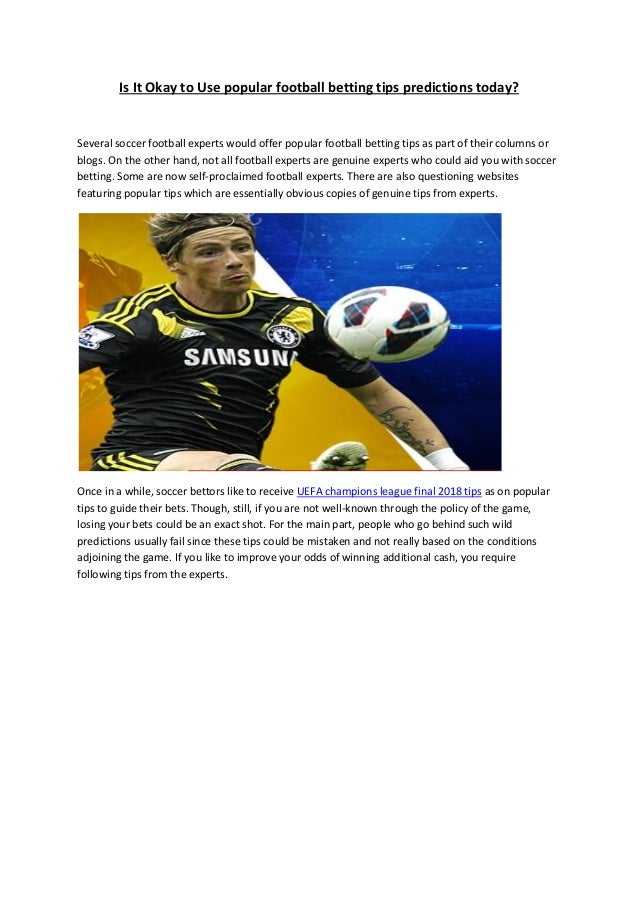 today football betting tips
