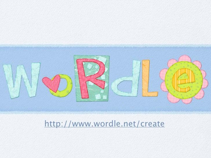 http://www.wordle.net/create