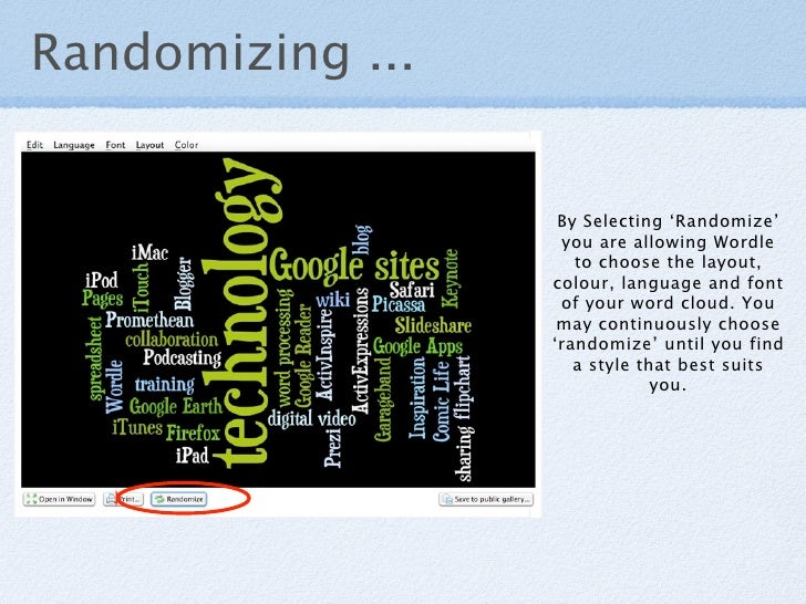 Randomizing ...                      By Selecting 'Randomize'                    you are allowing Wordle                  ...