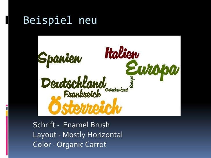 Beispiel neu Schrift - Enamel Brush Layout - Mostly Horizontal Color - Organic Carrot