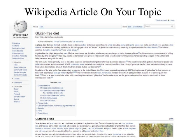 Wikipedia Article On Your Topic
