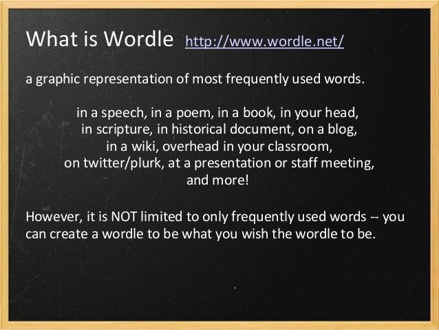 Wordle Ideas Slide 2