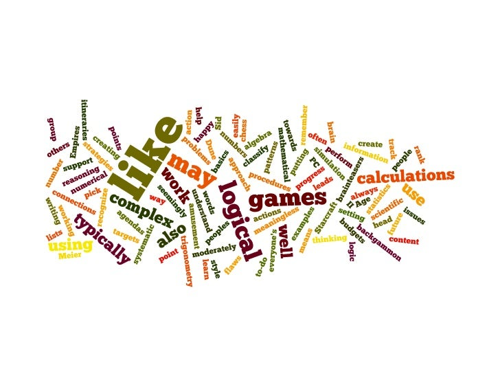 Wordle of physical learning style