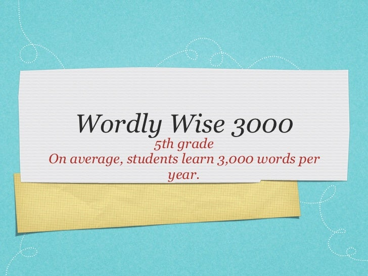 wordly wise 3000 app