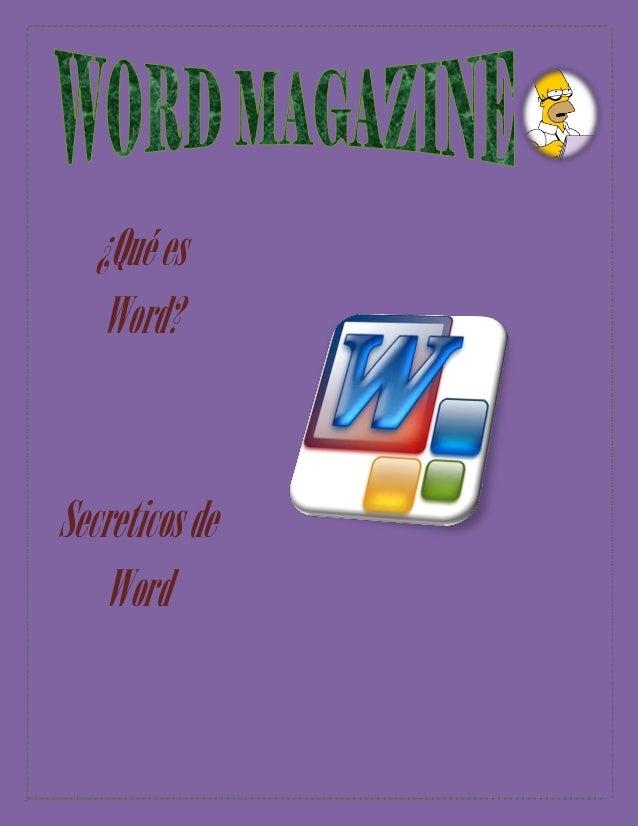 ¿Qué es Word?  Secreticos de Word