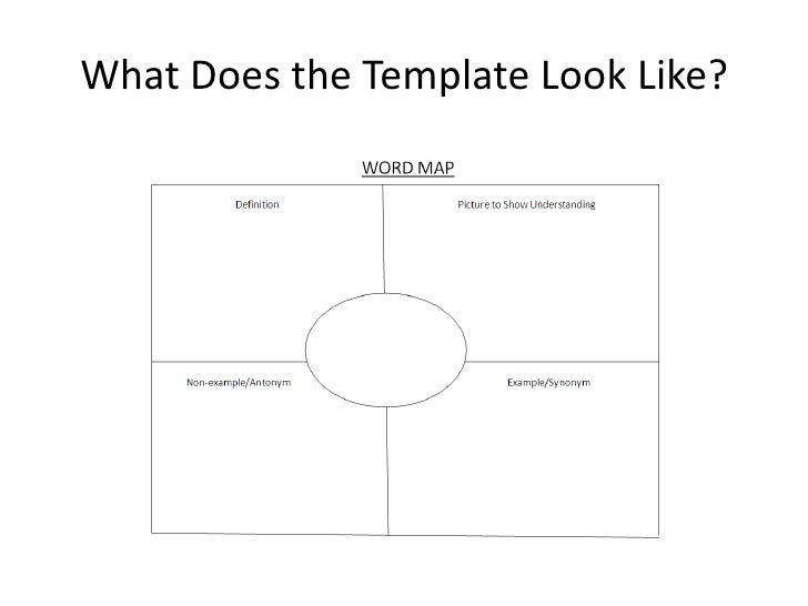 information mapping word template - word maps to build comprehension