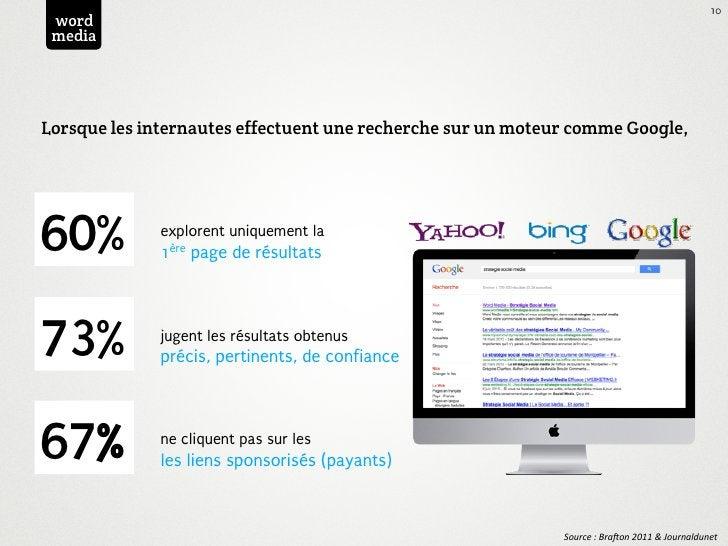10 word mediaLorsque les internautes effectuent une recherche sur un moteur comme Google,60%          explorent uniquement...
