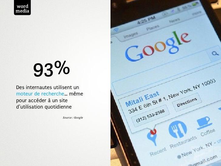 4wordmedia        93%Des internautes utilisent unmoteur de recherche… mêmepour accéder à un sited'utilisation quotidienne ...