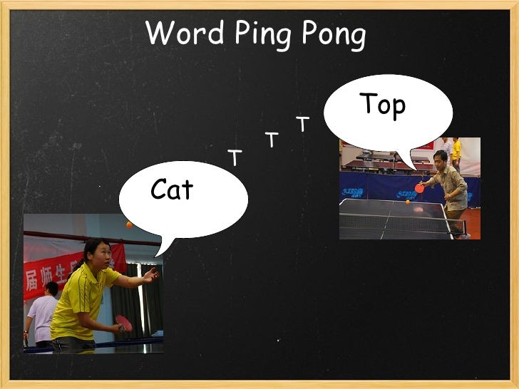 Word Ping Pong Cat     Top T T T