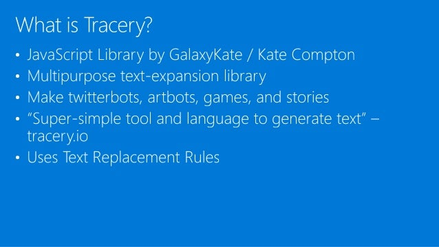 Word Play in the Digital Age: Building Text Bots with Tracery