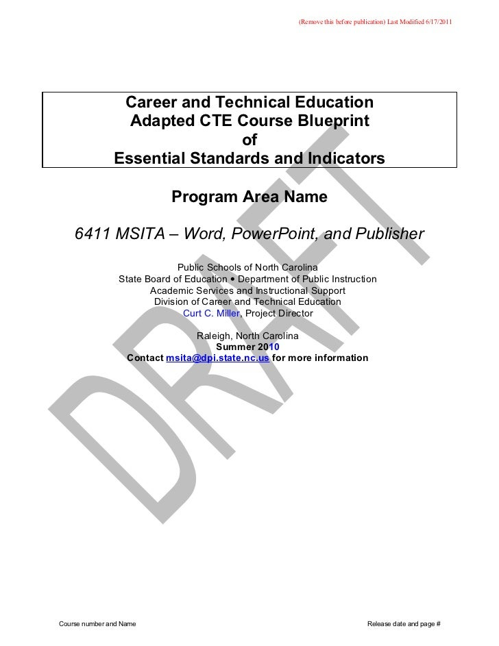 (Remove this before publication) Last Modified 6/17/2011                Career and Technical Education                 Ada...