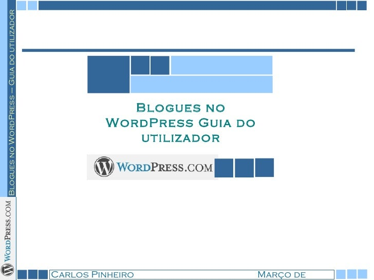 Blogues no WordPress Guia do utilizador
