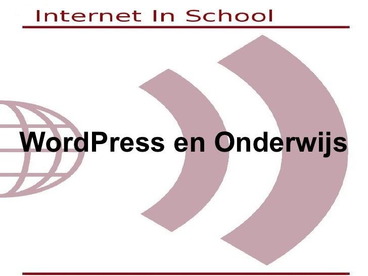 WordPress en Onderwijs