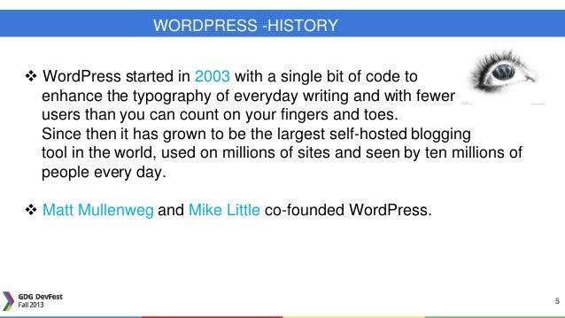 basic wordpress ppt