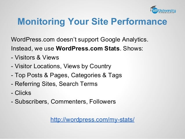 Crash Course in WordPress.com slideshare - 웹
