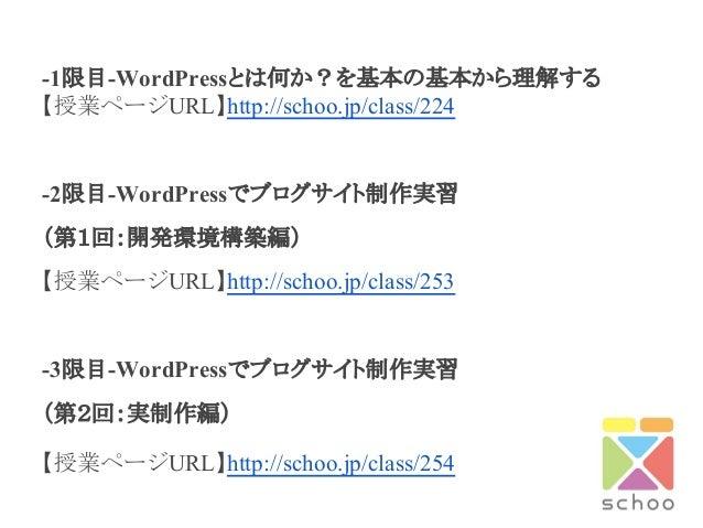 【再放送】Word pressでブログを作れるようになる4時間15分! Slide 2