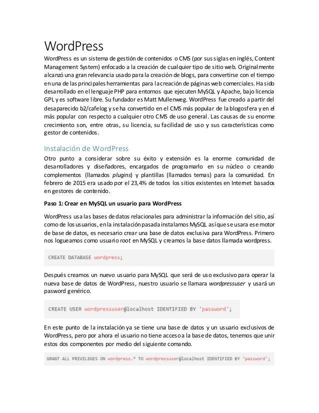 Guía de instalación de WordPress en CentOS 7