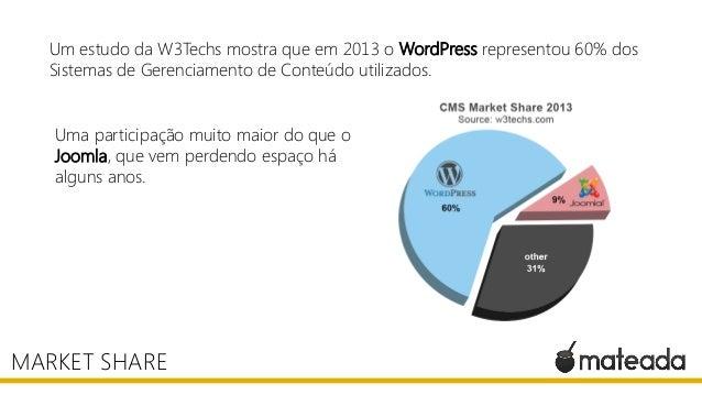 Um estudo da W3Techs mostra que em 2013 o WordPress representou 60% dos Sistemas de Gerenciamento de Conteúdo utilizados. ...