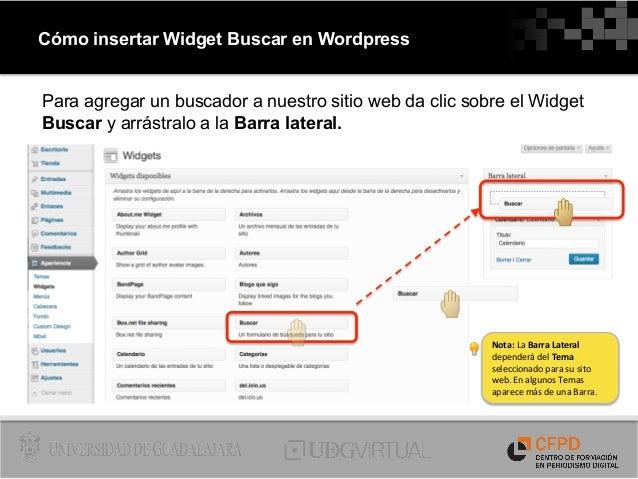 Cómo insertar Widgets en Wordpress - Parte 1