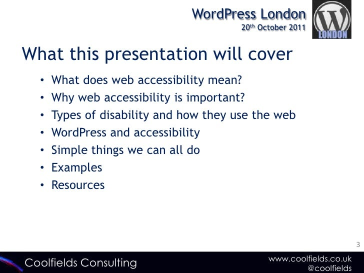 WordPress and Web Accessibility: Why it's Important Slide 3