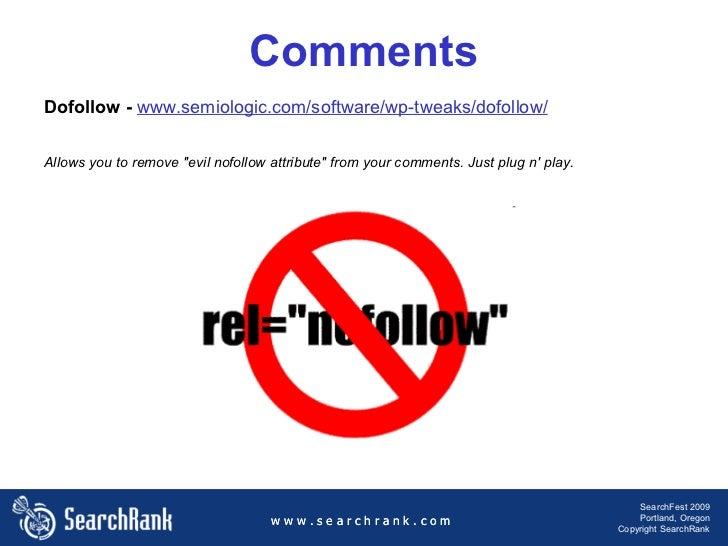w w w . s e a r c h r a n k . c o m SearchFest 2009 Portland, Oregon Copyright SearchRank w w w . s e a r c h r a n k . c ...