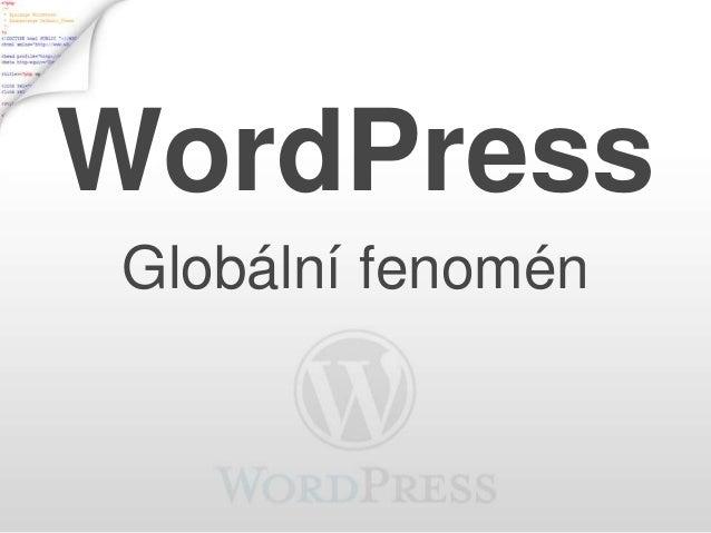 WordPress Globální fenomén
