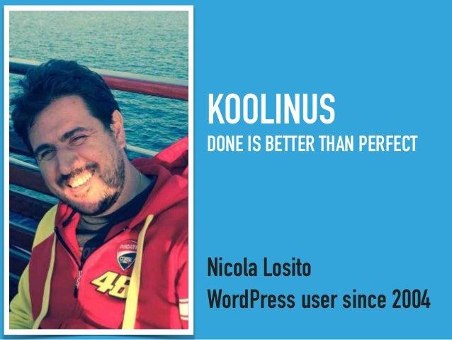 Introduzione a WordPress Multisite Slide 2