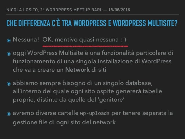 Introduzione a WordPress Multisite Slide 3