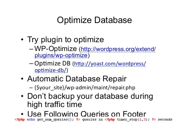 Vinay Paudel: Optimizing and Speeding up a WordPress site slideshare - 웹