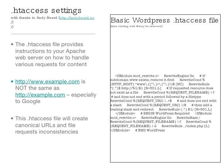 Wordpress Optimization Settings slideshare - 웹