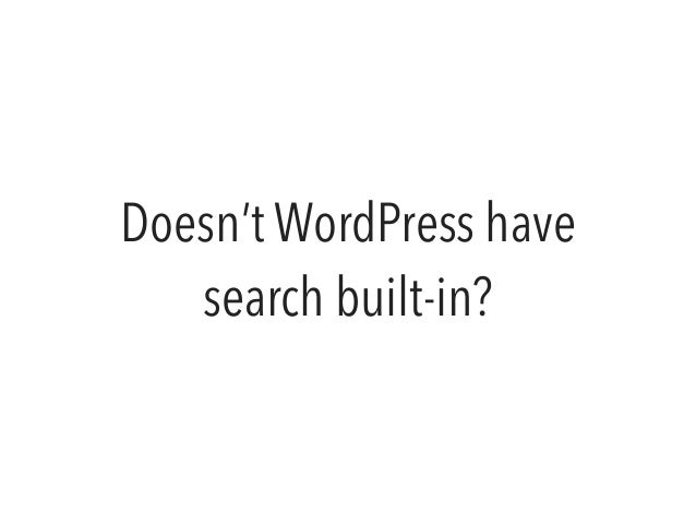 Modernizing WordPress Search with Elasticsearch slideshare - 웹