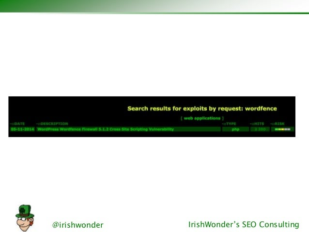 @irishwonder IrishWonder's SEO Consulting