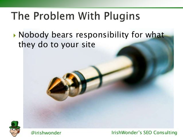 @irishwonder IrishWonder's SEO Consulting  Nobody bears responsibility for what they do to your site