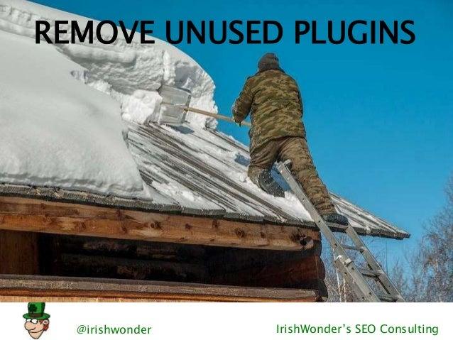 @irishwonder IrishWonder's SEO Consulting REMOVE UNUSED PLUGINS