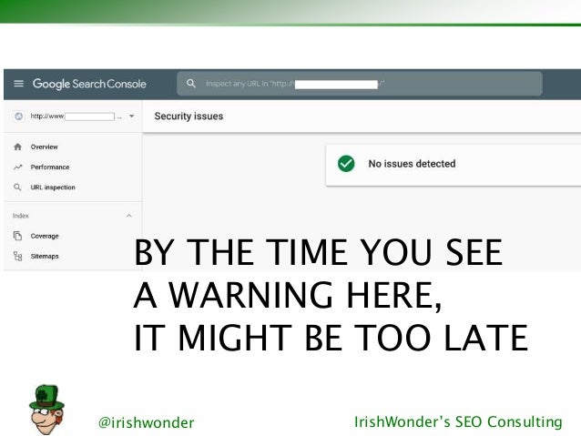 @irishwonder IrishWonder's SEO Consulting BY THE TIME YOU SEE A WARNING HERE, IT MIGHT BE TOO LATE