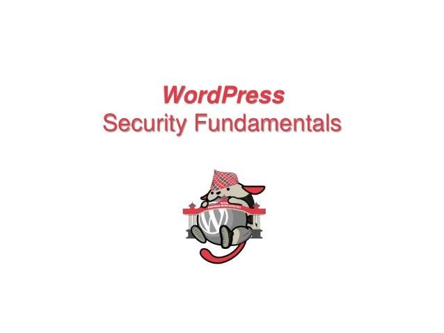 WordPress Security Fundamentals