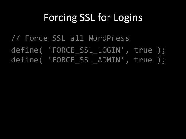 WordPress and SSL