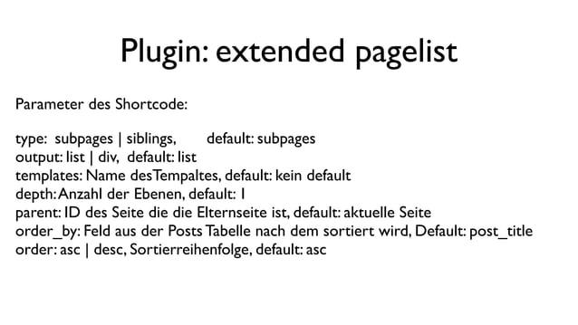 WordPress - Seiten anteasern. Theorie, Praxis, Plugins